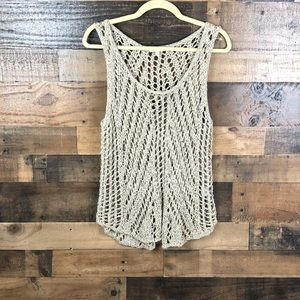 EILEEN FISHER OPEN KNIT PULLOVER TANK TOP